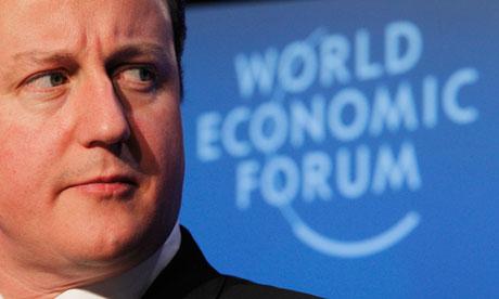 David Cameron at Davos in 2010