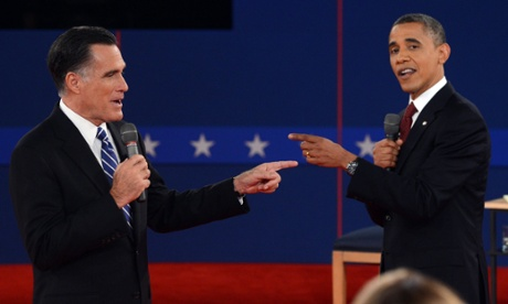 US president Barack Obama and Republican presidential candidat