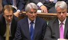 Andrew Mitchell looks on during PMQs