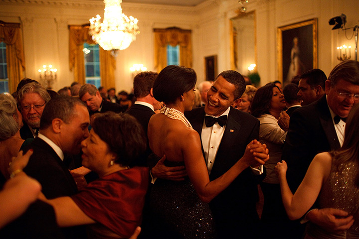 Obama by Pete Souza : 2009: Barack Obama and Michelle Obama dance