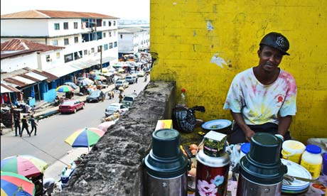 Monrovia coffee seller