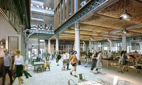 Interior of proposed Smithfield market