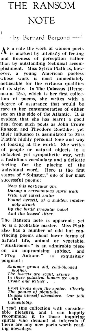 """sylvia plath the colossus essay example Spinster sylvia plath album the colossus and other poems spinster lyrics now this particular girl during a ceremonious april walk with her latest  """"spinster†by sylvia plath essay example for free - sylvia plath spinster pdf epub mobi download sylvia plath spinster (pdf, epub, mobi) books sylvia plath spinster (pdf, epub."""