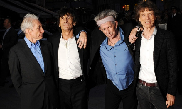 We love you: British rock band The Rolling Stones (L-R) Charlie Watts, Ronnie Wood, Keith Richards and Mick Jagger arrive for the world premiere 'Crossfire Hurricane'  during the 56th BFI London Film Festival at Leicester Square in London.