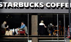 Starbucks coffee shop in London