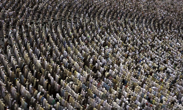 Muslim pilgrims pray at the Grand mosque during the annual haj pilgrimage in Mecca. The Arafat Day, when millions of Muslim pilgrims will stand in prayer on the mount of Arafat near Mecca at the peak of the annual pilgrimage, will be held on October 25 and Eid Al-Ahda or the feast of sacrifice will be held on October 26.