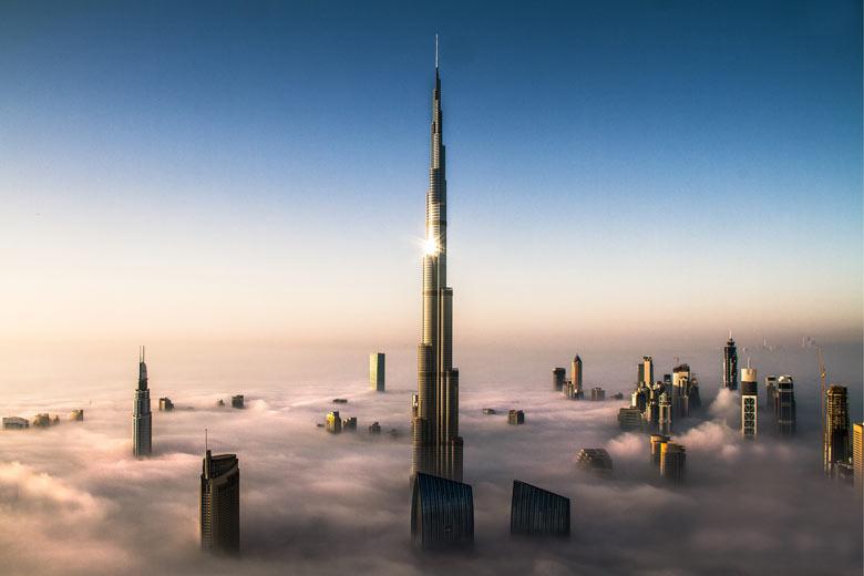 Più alto edificio del mondo, il Burj Khalifa a Dubai