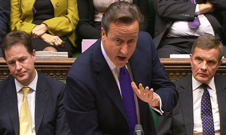 David Cameron at PMQs this week