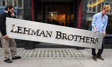 Culture shock ... the collapse of Lehman Brothers ushered in the deepest economic crisis since the 1930s. Photograph: Linda Nylind for the Guardian
