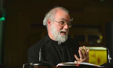 Rowan Williams, the Archbishop of Canterbury, addresses the theology think tank Theos in London
