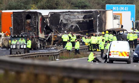 M5 crash deaths: fireworks organiser charged with manslaughter