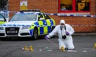 Cardiff hit and run scene