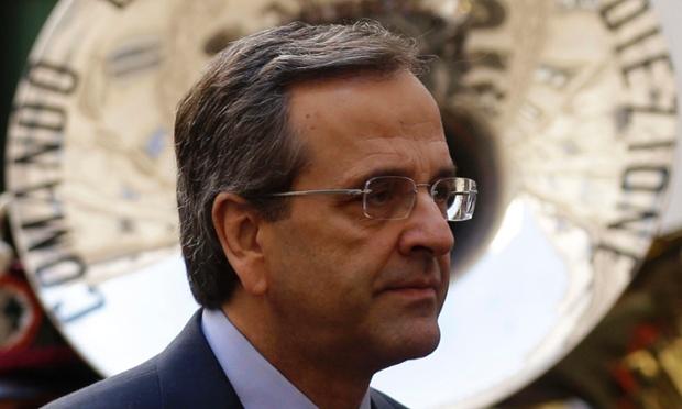 The Greek prime minister Antonis Samaras
