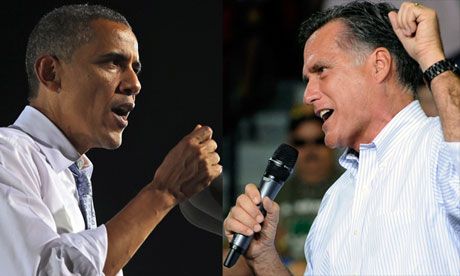 Barack Obama and Mitt Romey