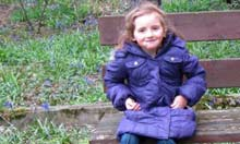 April Jones, who was wearing this purple coat when she went missing from Machynlleth in Wales
