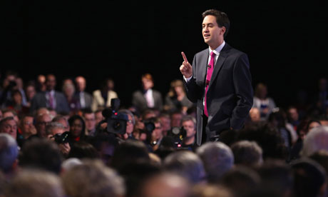 Ed Miliband at the Labour party conference