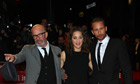 Jacques Audiard, Marion Cotillard and Matthias Schoenarts on the red carpet in London