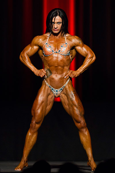 Bodybuilding: Jay Fuchs holds a pose for the judges