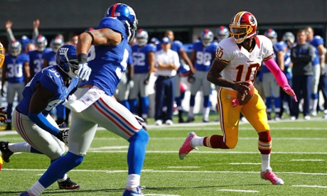Washington Redskins quarterback Robert Griffin III is putting on quite the show in New York.