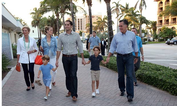 Mitt Romney and family in Florida