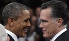 Barack Obama and Mitt Romney at the third and final presidential debate.