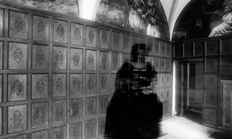 Ghostly figure of a woman in a bustle at Bolsover Castle