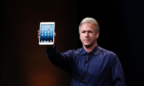 Apple senior vice president of worldwide marketing Philip Schiller introduces the new iPad mini during an Apple event in San Jose.