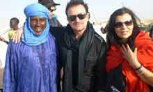U2 singer Bono attends Mali's Festival in the Desert music festival in Timbuktu