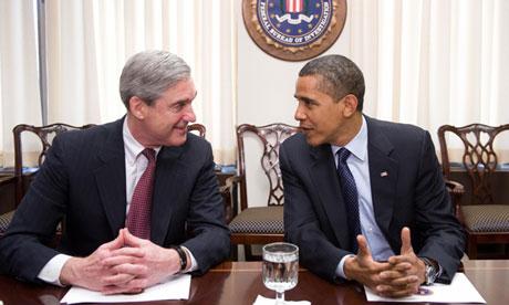 Barack Obama with FBI Director Robert Mueller
