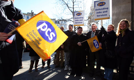 PCS union members striking in 2010