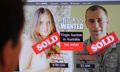 Virginity sold Female