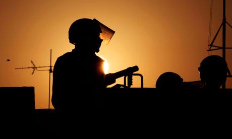 Riot police in Bahrain