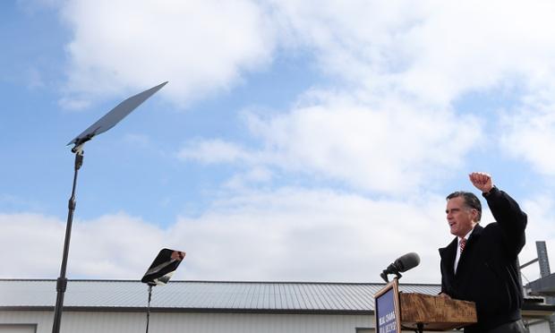 Mitt Romney Ames Iowa teleprompter