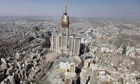 The four-faced Mecca clock tower
