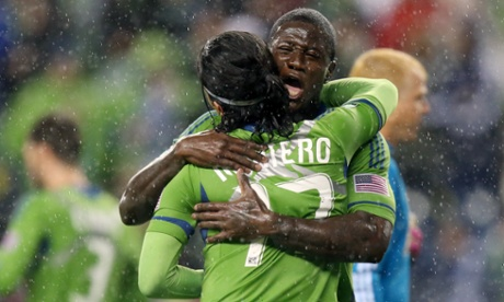 Fredy Montero Eddie Johnson Seattle Sounders
