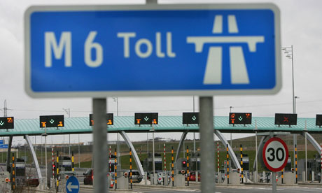 M6 motorway toll booths