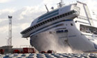 French ferry breaks moorings