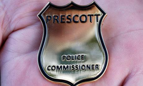 A John Prescott police commissioner badge.