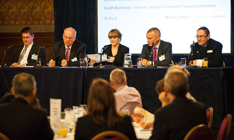 Panel members at LGLQ event in Manchester