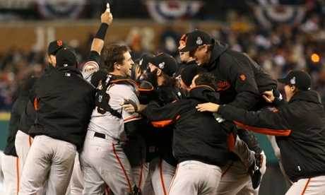 The Giants are number one. San Francisco celebrate their second title in three seasons after sweeping the Detroit Tigers in the 108th World Series.