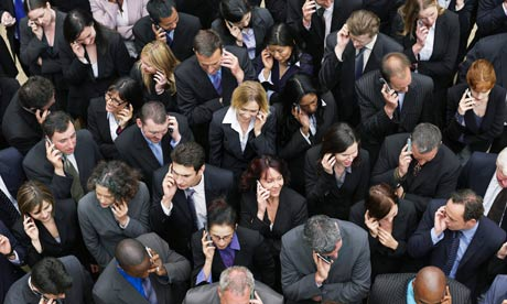 Businesspeople Using Cell Phones