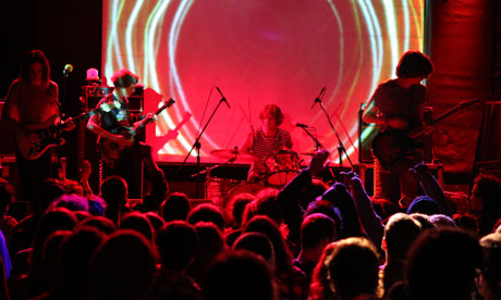 Tame Impala onstage in New York City, 2010. Photograph: Cory Schwartz/Getty