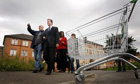 David Cameron visits the Gallowgate estate in Glasgow, in 2008.