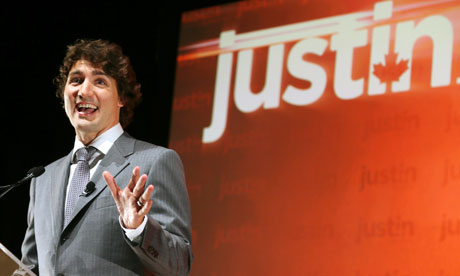 Canadian MP Justin Trudeau announces he is running for the leadership of the Liberal party