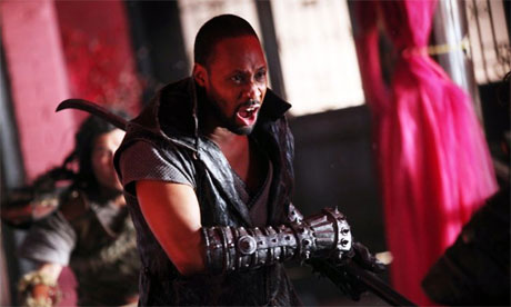 Director-actor RZA in The Man with the Iron Fists