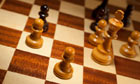 Pawns on chessboard