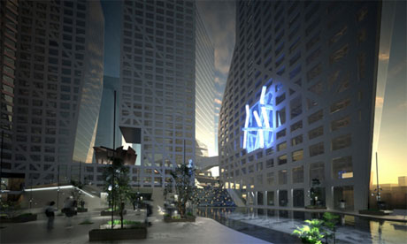 The Light Pavilion in the Raffles City complex in Chengdu by Steven Holl Architects