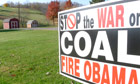 'Stop the war on coal' sign, Ohio