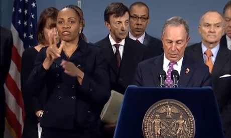 Mayor Michael Bloomberg in a Wednesday briefing.