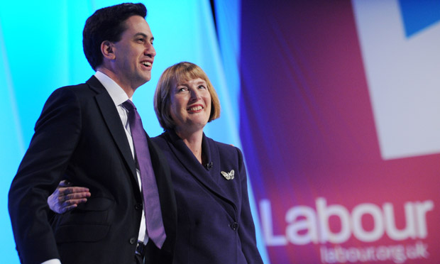Labour leader Ed Miliband and deputy leader Harriet Harman